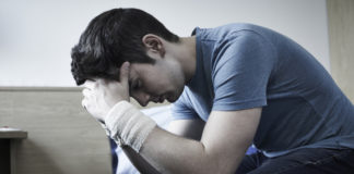 Self-Harm Risk Greater Among Patients with These Rheumatic Diseases, depression, sad, man